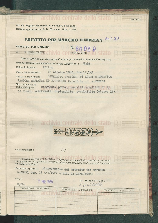 BENEDETTO PASTORE DI LUIGI E DOMENICO PASTORE SERRANDE ED ACCESSORI ...